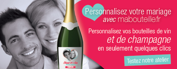 vin mariage - Tiquette Personnalise Champagne Mariage