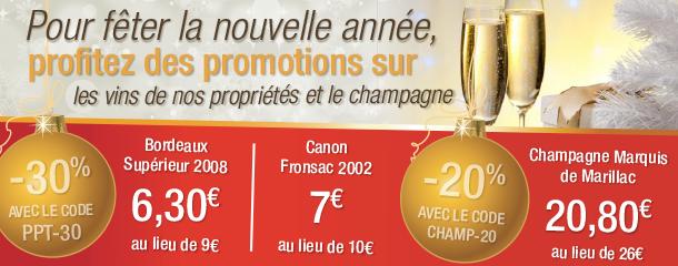 Champagne et Vin pour le réveillon 2013