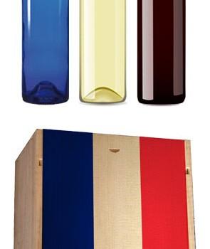 Made in France : un coffret bois avec trois bouteilles personnalisées