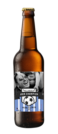 biere personnalisée etiquette