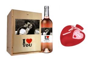 bouteille st valentin personnalisée
